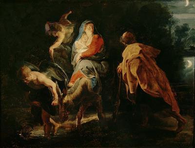 1614 La Huida a Egipto (Peter Paul Rubens) (1614)