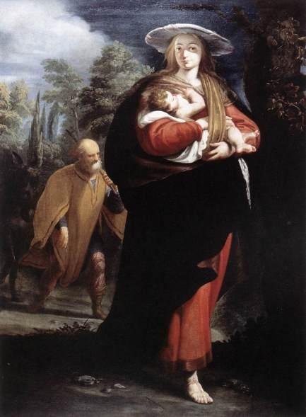 1625 La huida a Egipto (Giovanni Andrea Ansaldo) (1620-1629)
