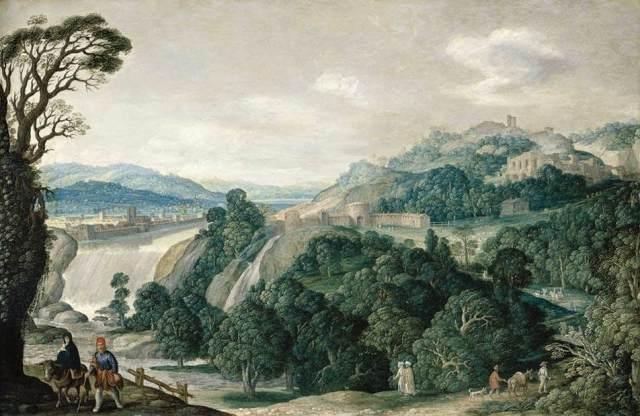 1625 Paisaje con la huida a Egipto (Johann Vasto König) (1620-1630)