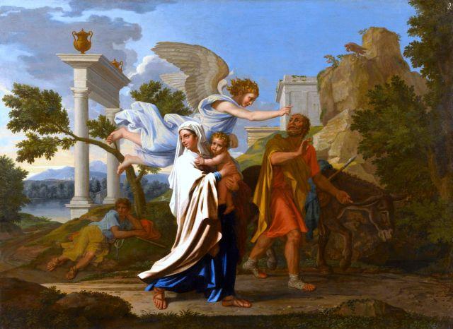 1657 Huida a Egipto (Nicolás Poussin) (1657)