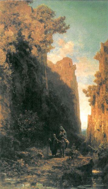 1877 La Huida a Egipto (Carl Spitzweg) (1875-1879)