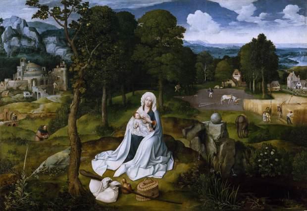 Descanso en la huida a Egipto (Joachim Patenier) (1520)
