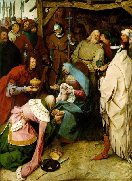 La adoración de los Reyes (Peter Brueghel El Viejo) (1564)-