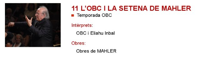 La OBC y la séptima de Mahler en L'Auditori