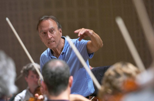 Claudio Abbado conducting at the Lucerne Festival 2005