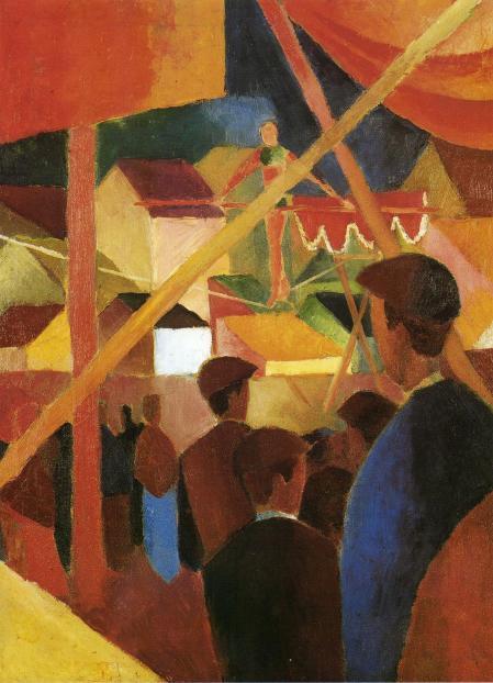 Funambulista (August Macke, 1914)