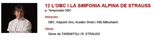 La OBC y La Sinfonía Alpina de Strauss