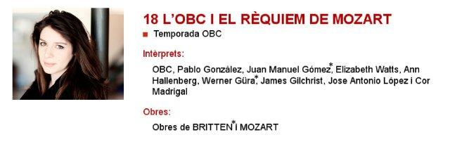 La OBC y el Requiem de Mozart en L'Auditori