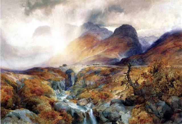 Pass at Glencoe, Scotland (Thomas Moran)