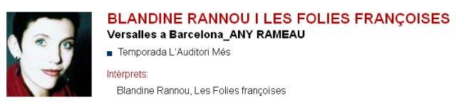 Blandine Rannou y Les folies françoises en L'Auditori (Versalles en Barcelona)