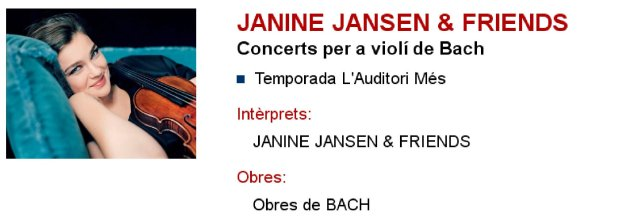 Janine Jansen & Friends en L'Auditori