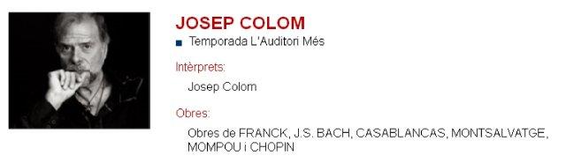 Josep Colom en L'Auditori