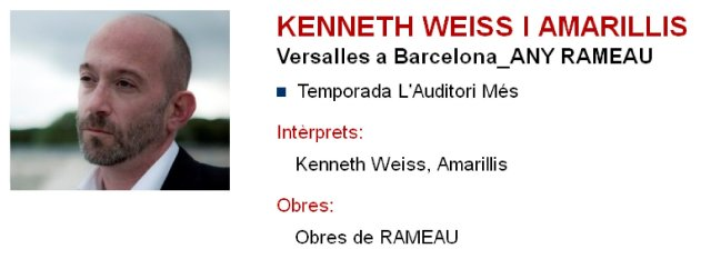 Kenneth Weiss y Amarillis en L'Auditori