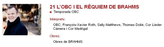 La OBC y el Requiem de Brahms en L'Auditori