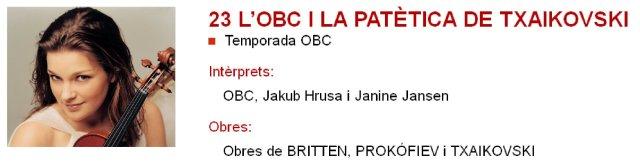 La OBC y el Segundo concierto de Prokofiev con Janine Jansen en L'Auditori