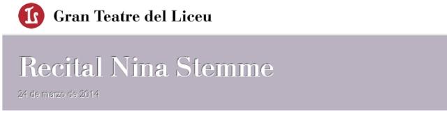 Recital Nina Stemme