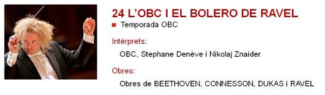 """La OBC, el Bolero de Ravel y alguna """"cosilla"""" más en L'Auditori"""