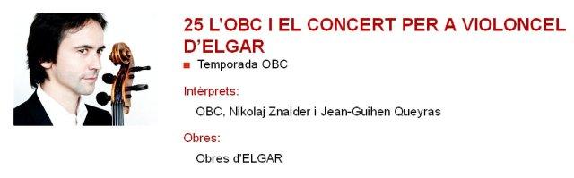 La OBC y Elgar en L'Auditori
