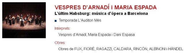 Vespres d'Arnadí y María Espada en L'Auditori