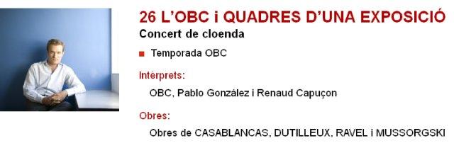 La OBC y Renaud Capuçon en L'Auditori