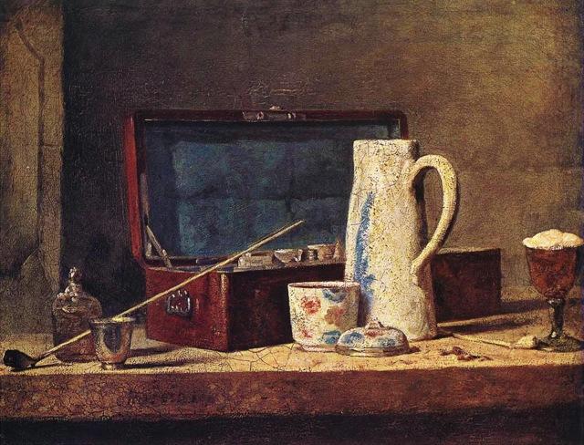 Chardin - La tabagie (Pipes et vases à boire)