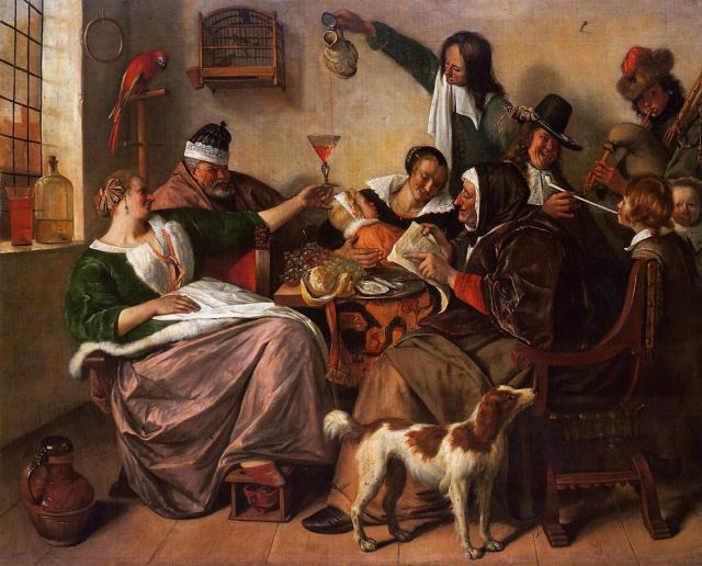 Como el viejo canta, fuma el joven (c.1663-1665)