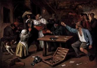 Discusion por una partida de cartas