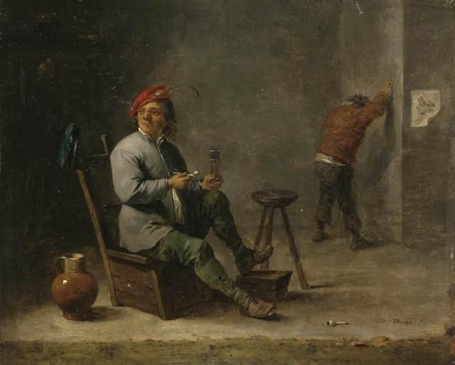 El fumador (1645)