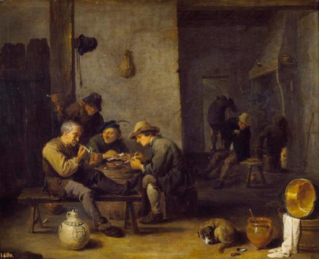 Fumadores en una taberna