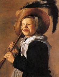 Niña con flauta