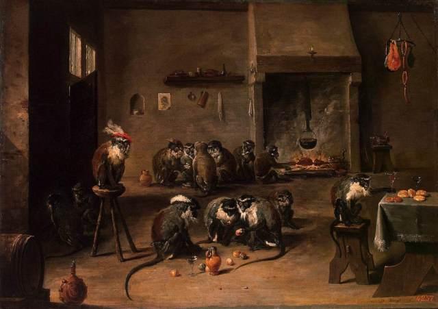 Monos en la cocina