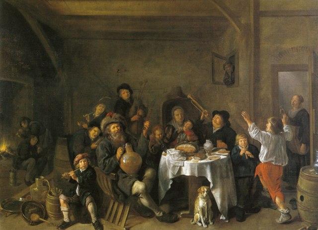 Una familia haciendo jarana