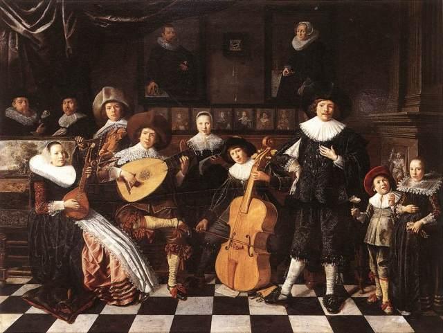 Familia tocando música