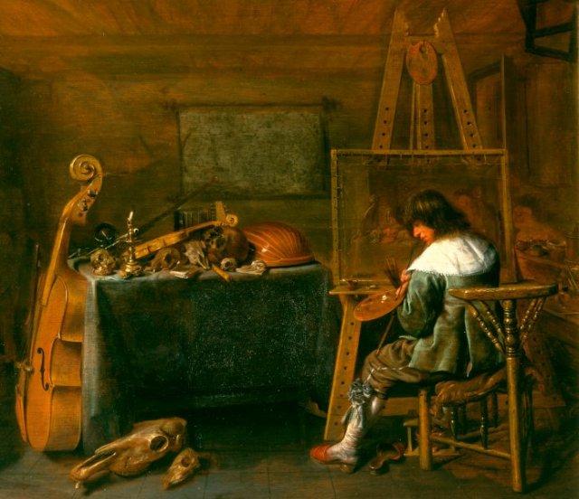 Pintor en su estudio