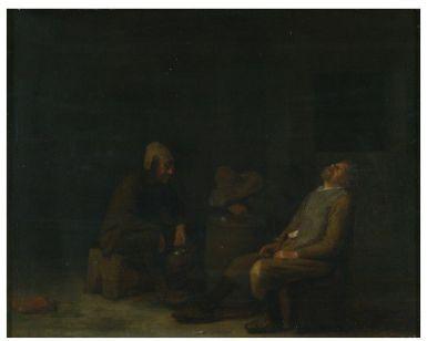 Tres campesinos borrachos en un taberna