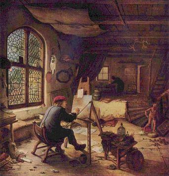 El pintor en su taller (Autoretrato)