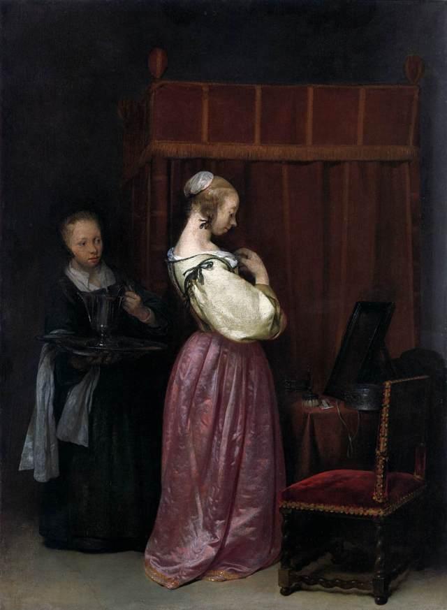 Joven en su tocador, con una doncella (1650-51)