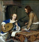 Mujer tocando la tiorba