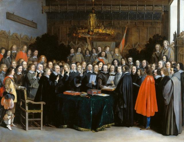 La ratificacion del tratado de Munster (1648)