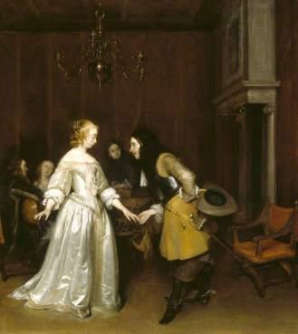 Un oficial haciendo reverencia a una cortesana o La pareja de bailarines