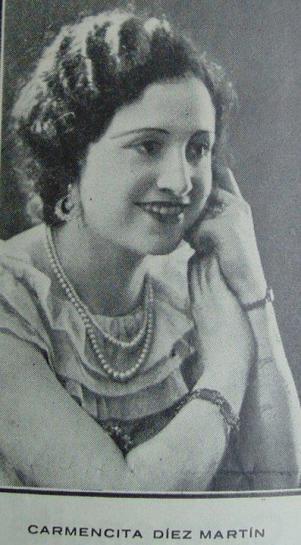 Carmen Díez Martín en 1935