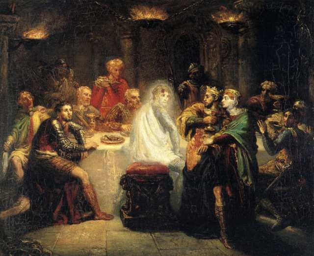 Macbeth apercevant le spectre de Banco. Théodore Chassériau (1854)