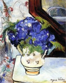Ramo de violetas de Parma (Suzanne Valadon)