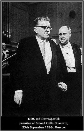 Shostakovich y Rostropovich, 1966