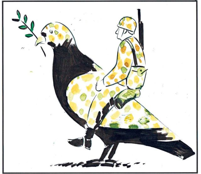 2014.09.14 Paloma de la paz militarizada