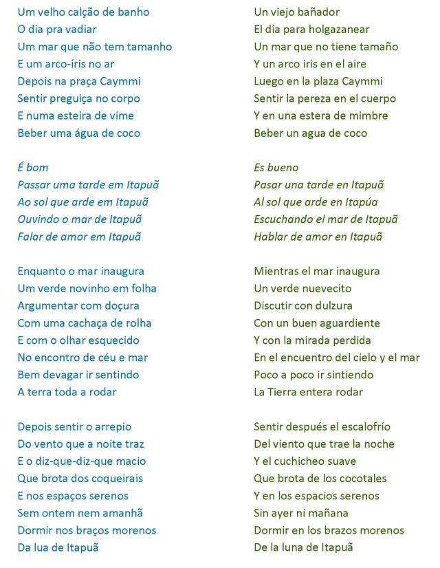 Itapoa letra