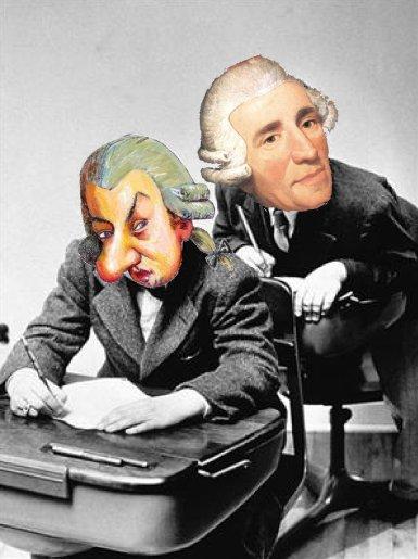 Haydn copiando a Mozart