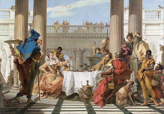 El banquete de Cleopatra (Tiépolo, 1743-1744)
