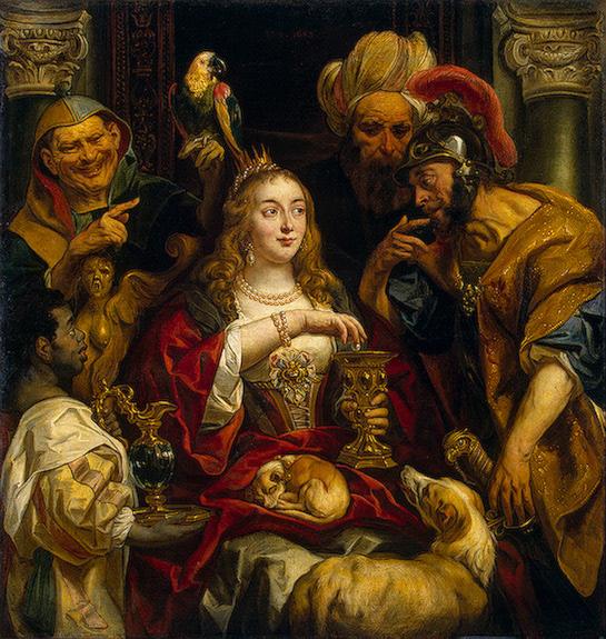 El banquete de Cleopatra (Jordaens, 1653)