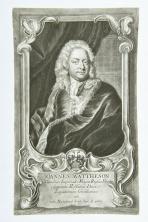 """Porträt Johann Mattheson (1681-1764) von Johann Jakob Haid (1704-1767) nach Johann Salomon Wahl? (1689-1765). Die Bildunterschrift lautet: """"IOANNES MATTHESON Celsitudinis Imperiali Magni Russiae Princip. Supremi Holsatiae Ducis Legationum Consiliarius cet. nat. Hamburg d. 28. 9. A. 1681."""" Das Blatt ist signiert mit: """"Wahll pinxit. V. Dec. Ioh. Iac. Haid Sc. et exc. Aug. Vend"""". Der Hamburger Komponist und Musikschriftsteller Johann Mattheson war mit Händel befreundet und veröffentlichte in """"Grundlage einer Ehren-Pforte"""" (Hamburg 1740) eine der frühesten Biographie über diesen. Nach Händels Tod übertrug er Mainwarings """"Memoirs of the Life of the late George Frederic Handel"""" (London 1760) ins Deutsche."""